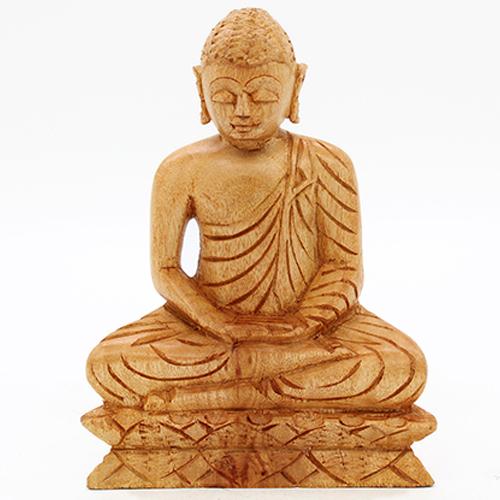 Mahogany Buddha Statue - Large