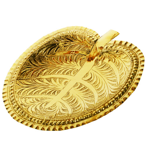 Brass Lotus Leaf Tray