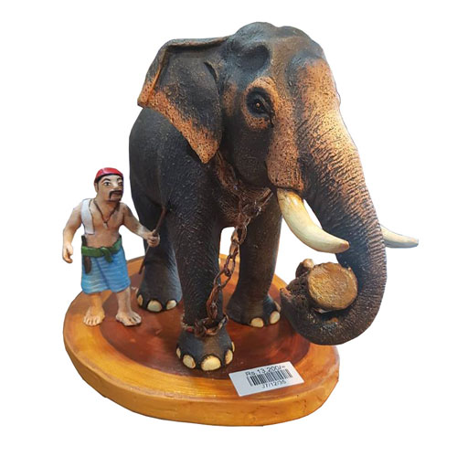Elephant with Log & Gowwa