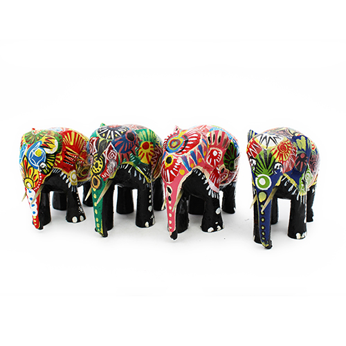Minimalist Colorful Tribal Floral Neon Elephant Binder