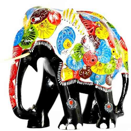 Painted Elephant - Large