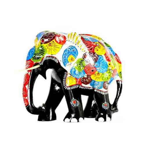 Painted Elephant - Medium