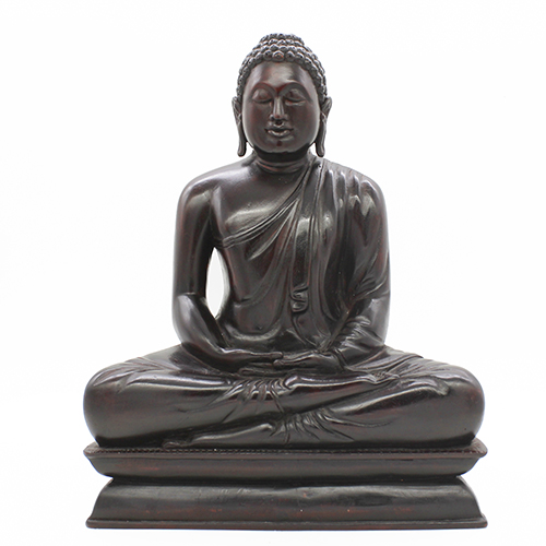 Mahogany Wooden Carved Meditation Buddha