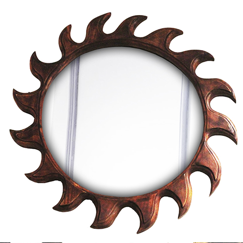 Right Rounded Mirror Sun