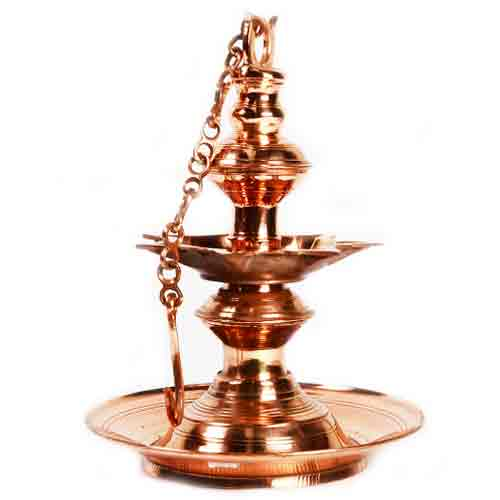 Copper Oil Lamp - Large
