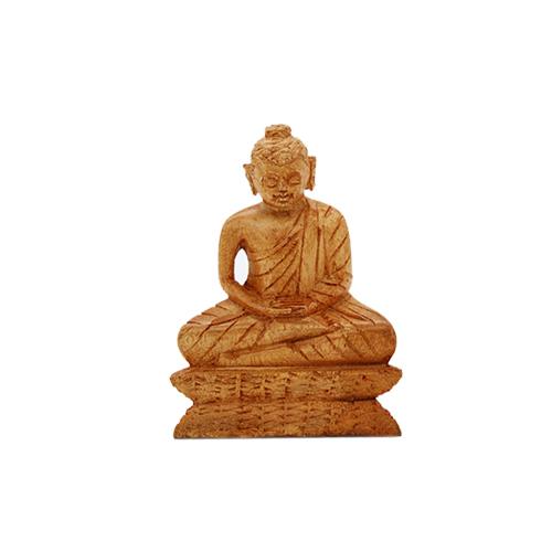 Mahogany Buddha Statue - small