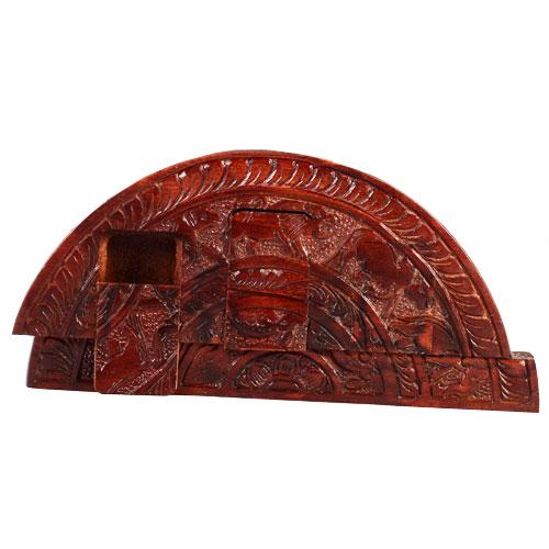 Mahogany Secret Box - Sandakada Pahana Shape