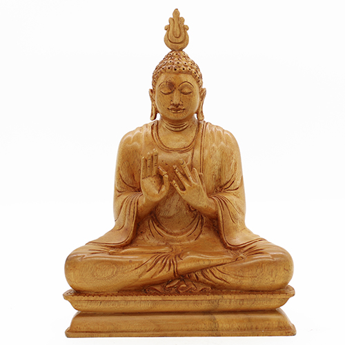 Wooden Carved Teaching Buddha - Large