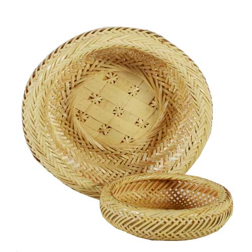 Bamboo Fruit Basket - L