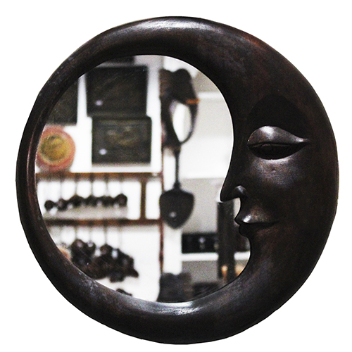 Carved Wood Wall Art, \\\'Moon Shadow\\\'