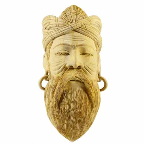 Unpainted Carving Mask - Brahmana