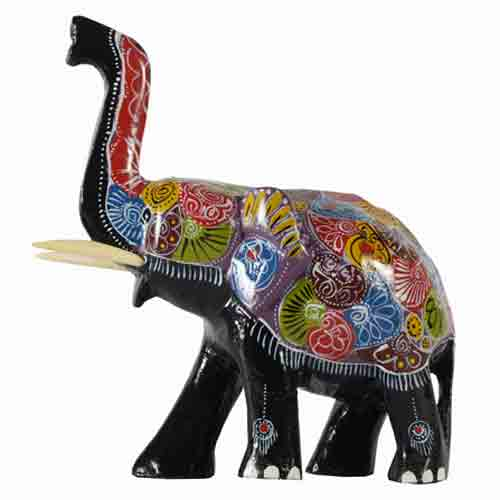 Painted Elephant T/up - Large