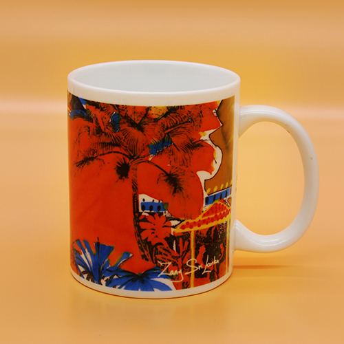 Ceramic Mug with Abstract Design
