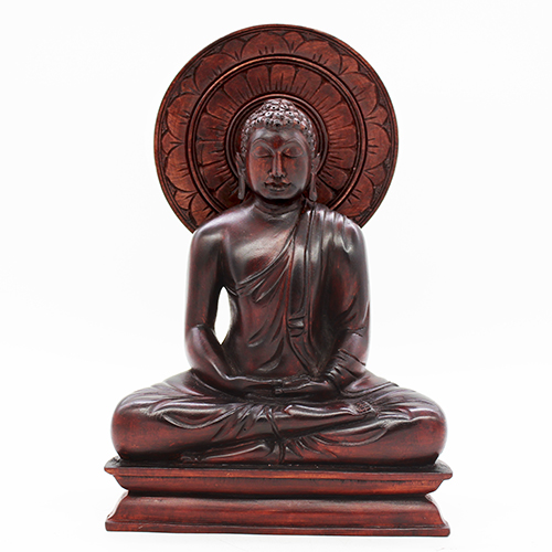 Seated Buddha with Lotus Halo