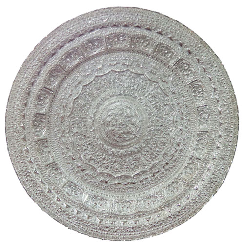 Silver Plated Tray with Carvings
