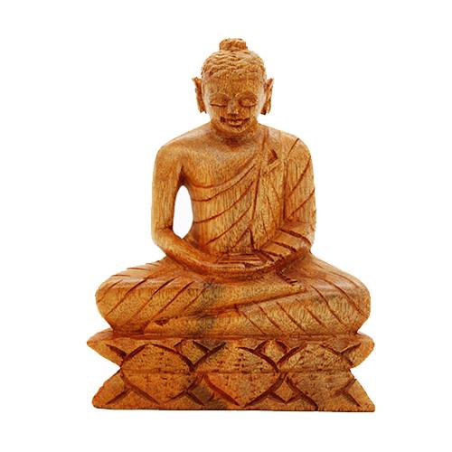 Mahogany Buddha Statue - Medium