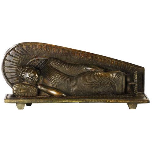 Mahogany Sleeping Buddha Statue