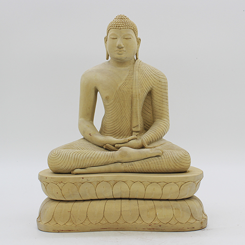 Kolan Wood Buddha Statue - Large