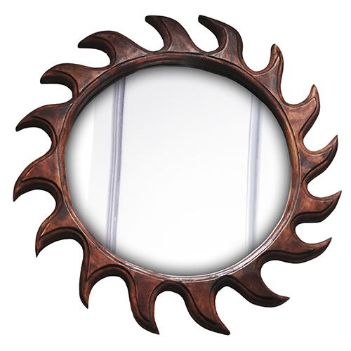 Left Rounded Mirror Sun