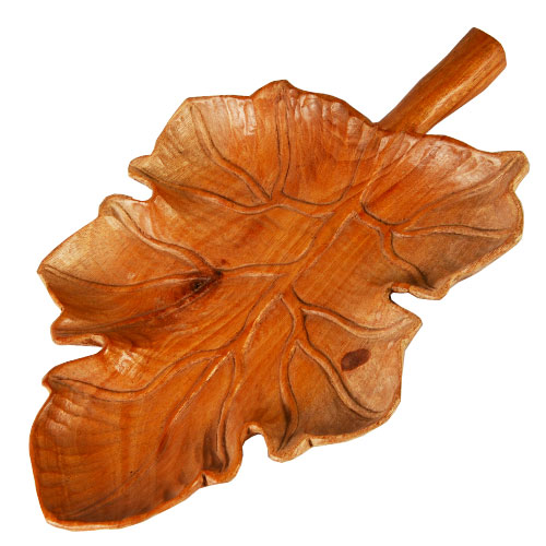 Wooden Leaf Tray - L