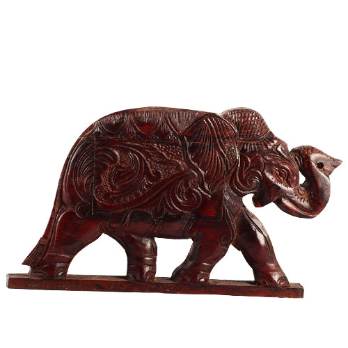 Mahogany Secret Box - Elephant
