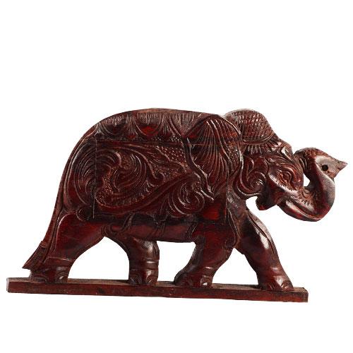 Mahogany Secret Box - Elephant